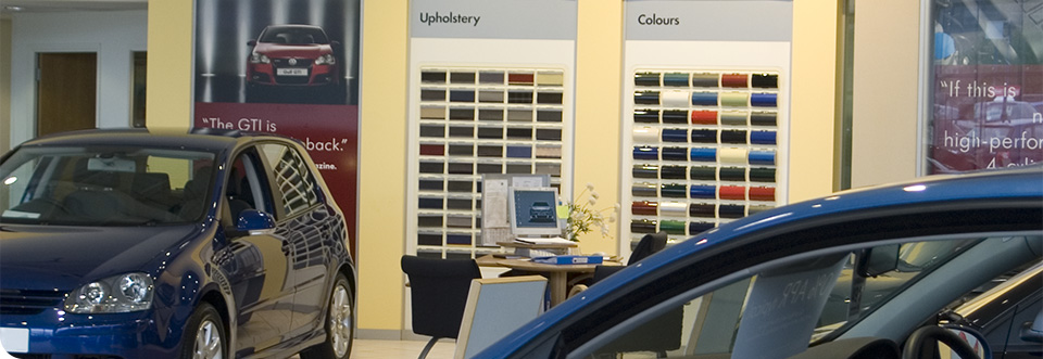 Volkswagen showroom colour and trim display